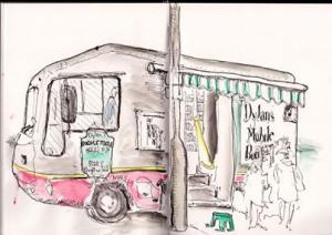 Image for Local artist Bill Bytheway shares sketches of market.
