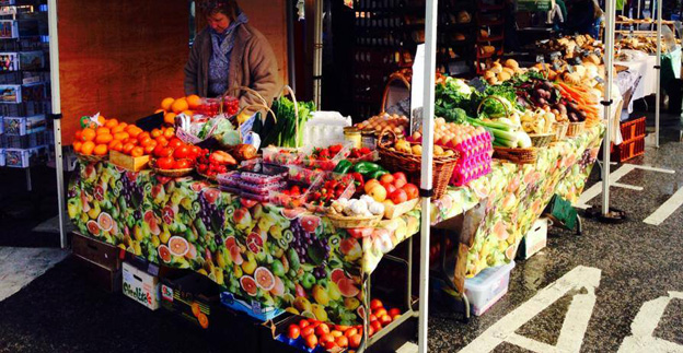 Fruit and veg at our April 2014 market